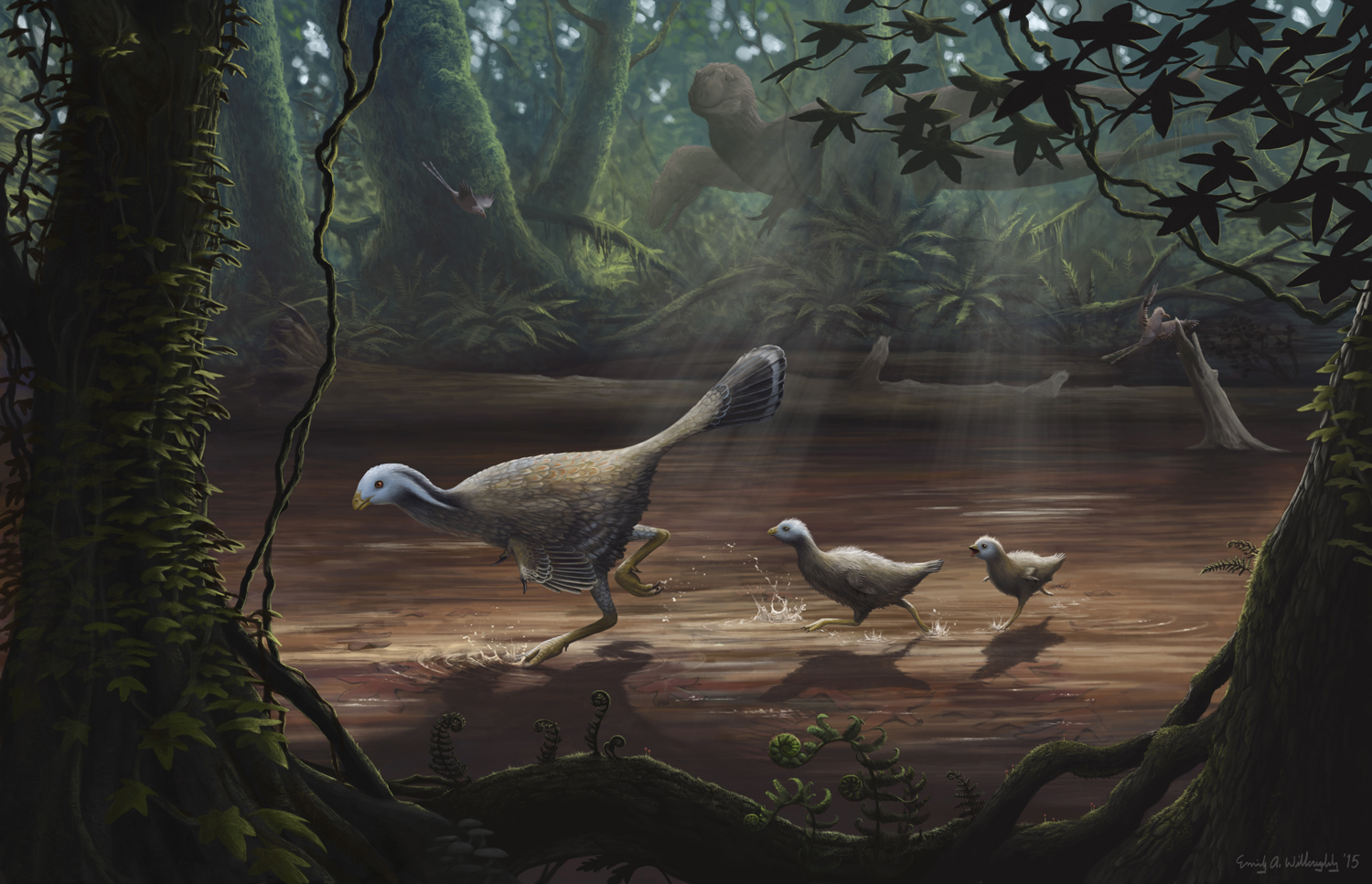 Caudipteryx with Chicks