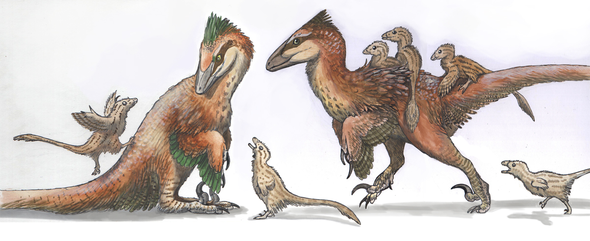 Deinonychus Family – Emily Willoughby Art